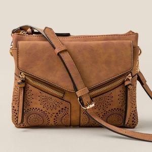 VIOLET RAY Cognac Crossbody Bag 6c1bda2ee2719